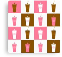 Coffee cup abstract stylized background Canvas Print