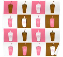 Coffee cup abstract stylized background Poster