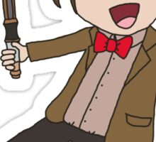 Cartoon 11th Doctor  Sticker
