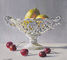 Lemons and Cherries by Freda Surgenor