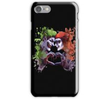 green red king queen crazy love iPhone Case/Skin