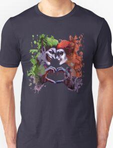 green red king queen crazy love Unisex T-Shirt