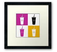 Plastic cups in pop art style Framed Print