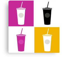 Plastic cups in pop art style Canvas Print