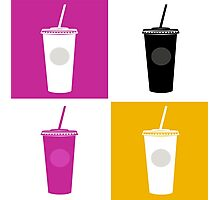 Plastic cups in pop art style Photographic Print