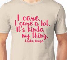 Leslie Cares. A lot. Unisex T-Shirt