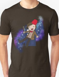 Cartoon 11th Doctor (with Tardis) Unisex T-Shirt