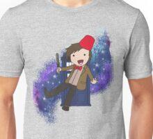 Cartoon 11th Doctor (with Tardis) Unisex T-Shirt