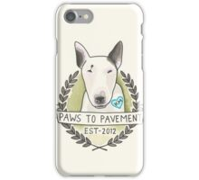 Paws To Pavement Dog Walking San Diego Bull Terrier OG iPhone Case/Skin