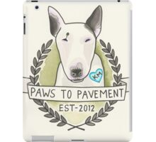 Paws To Pavement Dog Walking San Diego Bull Terrier OG iPad Case/Skin
