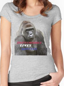 Deplorable Harambe :) Women's Fitted Scoop T-Shirt