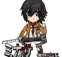 Attack on Titan: Mikasa CHIBI! by DubstepDuck117