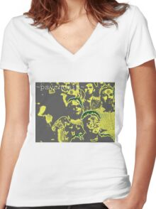 mellow psychosis Women's Fitted V-Neck T-Shirt