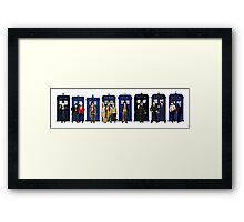 Doctor & Tardis Lineup Framed Print