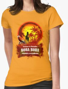Bora Bora..?? Why Not... Womens Fitted T-Shirt