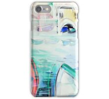 Colorful watercolor painting with boats on the bay iPhone Case/Skin