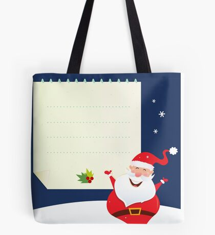 Christmas Santa with blank note Tote Bag