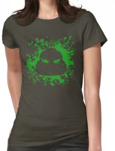 Headshot (green) Womens Fitted T-Shirt