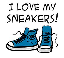 I love my sneakers Photographic Print