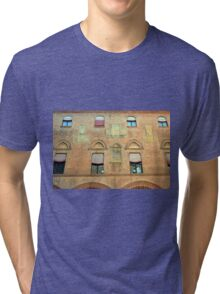 Classical red brick facade from Bologna Tri-blend T-Shirt