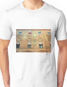 Classical red brick facade from Bologna Unisex T-Shirt