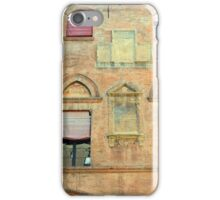 Classical red brick facade from Bologna iPhone Case/Skin