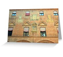 Classical red brick facade from Bologna Greeting Card