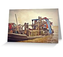 Fishing On The Thalwin River Greeting Card