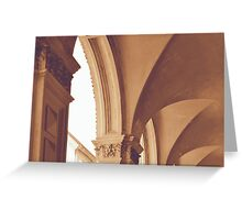 Vintage Gothic arches and columns in Bologna Greeting Card