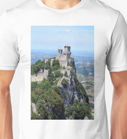 San Marino tower, natural landscape with monument Unisex T-Shirt
