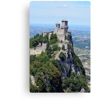 San Marino tower, natural landscape with monument Canvas Print