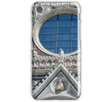 Detail of cathedral facade with rosette from Siena iPhone Case/Skin