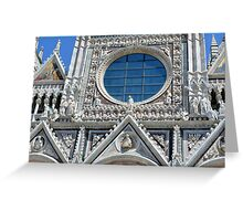 Detail of cathedral facade with rosette from Siena Greeting Card