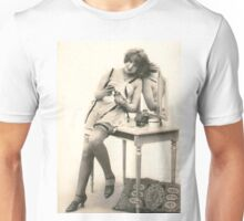 A portrait of a 20's Lady sitting at her dressing table Unisex T-Shirt