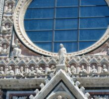 Detail of cathedral facade with rosette from Siena Sticker