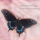 Black Swallowtail with Bible verse by Olga