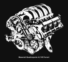 Quattroporte 4.2 V8 Engine One Piece - Short Sleeve