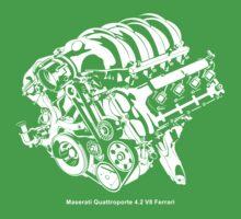 Quattroporte 4.2 V8 Engine Kids Tee