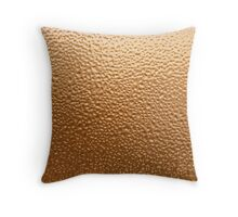 Copper Hammered Effect Throw Pillow