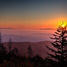 Sunrise Over the Smoky's III by Douglas  Stucky