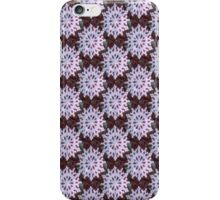 Christmas snowflake in red and green pattern iPhone Case/Skin