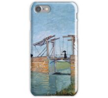 Vincent Van Gogh -  Langlois Bridge At Arles, 1888 iPhone Case/Skin