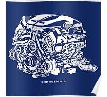 M5 E60 V10 Engine Poster