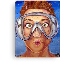 Underwater Mask Canvas Print