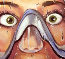 Underwater Mask Sticker