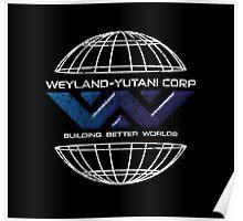 Weyland Yutani - Distressed Bevel Gradient Logo Poster