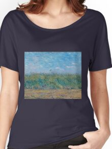 Vincent Van Gogh - Wheat Field With A Lark, 1887 Women's Relaxed Fit T-Shirt