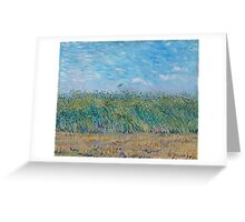 Vincent Van Gogh - Wheat Field With A Lark, 1887 Greeting Card
