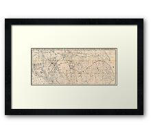 Map of Northern England, 1846 Framed Print