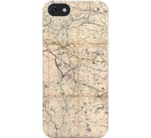 Map of Northern England, 1846 iPhone Case/Skin